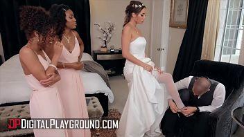 Poche ore prima del suo matrimonio fa un triangolo con le sue due amiche in un videoporno
